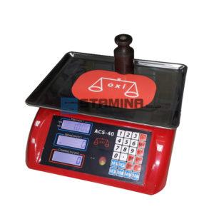 Весы торговые OXI ACS 40 кг 330х230 мм