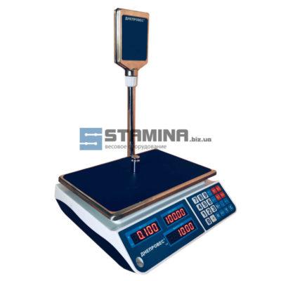 Торговые весы со стойкой ВТД ЕЛ 6 кг 335х230 мм