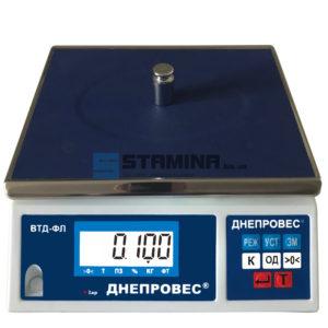 Весы фасовочные ВТД-ФЛ 280х230 мм 3 кг