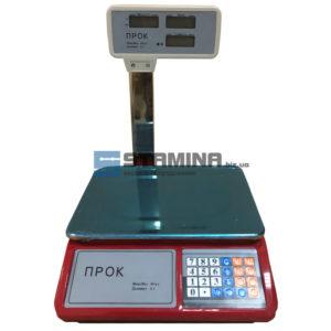 Торговые весы со стойкой Прок-S 30 кг 240х330 мм