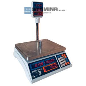 Торговые весы со стойкой ВТД-Т2 СВ 6 кг 280х230 мм